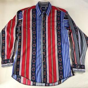 Wrangler Western Cowboy Paisley Shirt Long Sleeve